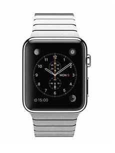 Apple Watch Acier 42mm Bracelet à Maillons Gris
