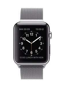 Apple Watch Acier 42mm Bracelet Milanais Gris