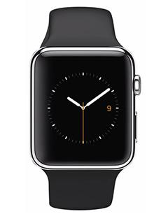 Apple Watch Acier 42mm Bracelet Sport Noir