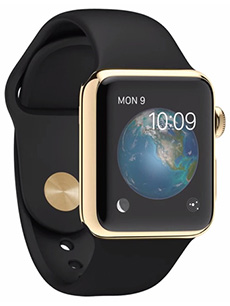 Apple Watch Edition Or Jaune 38mm Bracelet Sport Noir