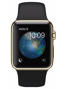 Apple Watch Edition Or Jaune 38mm Bracelet Sport Noir