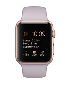 Apple Watch Sport Aluminium Or Rose 38mm Lavande