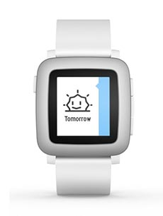 Pebble Time Blanc