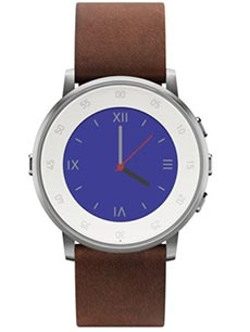 Pebble Time Round 20mm Cuir Marron