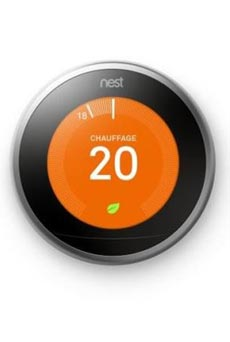 Thermostat connecté Nest Learning Gris