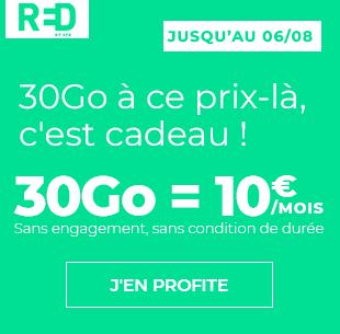 RED 30Go à 10 euros