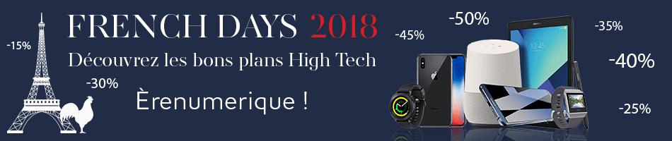French Days 2018 : Smartphones, Tablettes à prix cassés à partir du 28 Septembre 2018 !
