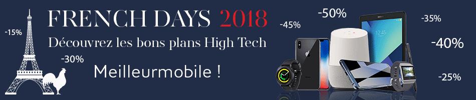 French Days 2018 : Smartphones dernières générations et tablettes à partir du 27 avril 2018 !