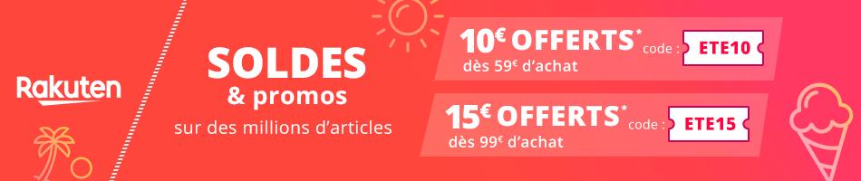 Rakuten ClubR Événement : 15€ offerts pour toute commande de 99€ minimum avec le coupon ETE15 !