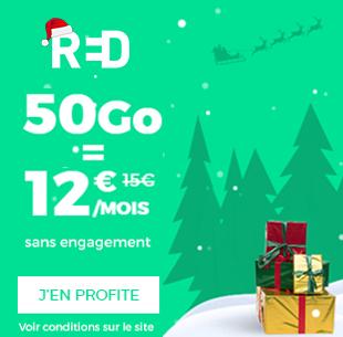 Forfait Red 50 Go pour 12 euros