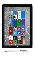 Tablette Microsoft Surface Pro 3 128 Go Noir